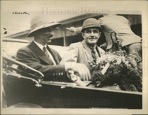1924 Press Photo Major Stewart MacLaren British Around the World Aviator - Historic Images