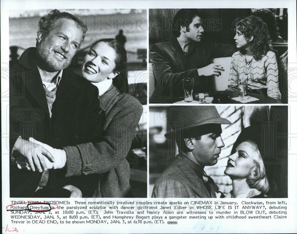 Undated Press Photo Richard Dreyfuss,Janet Elbert,John Travolta,Nancy Allen - Historic Images