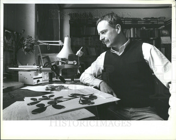 Press Photo Plowman Botanist looks over his work - Historic Images
