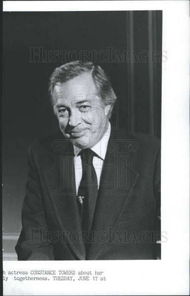 1980 Press Photo Hugh Downs,reporter TV commentator - Historic Images