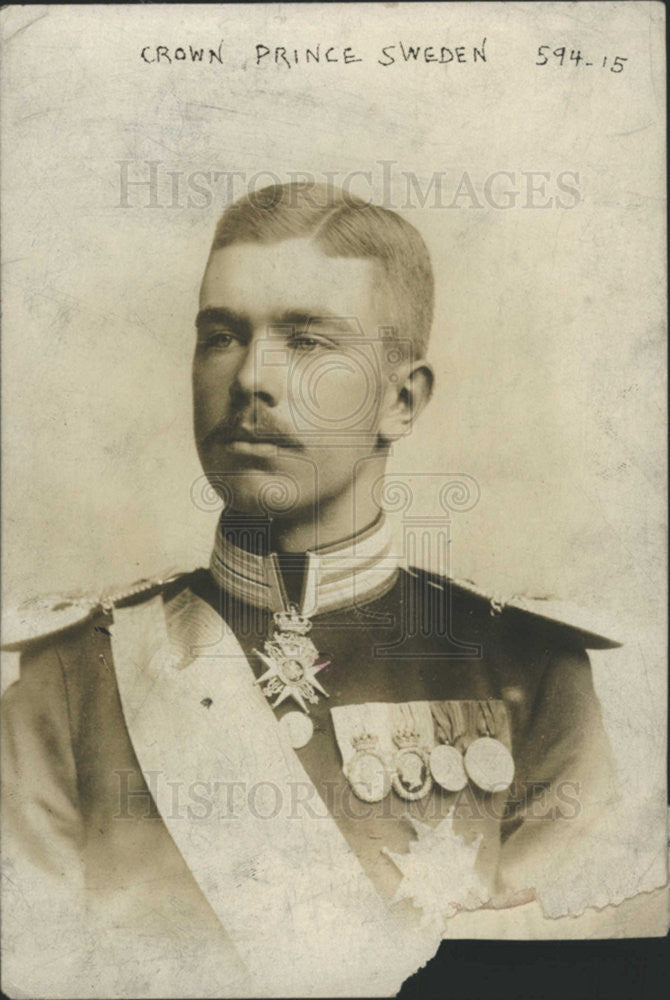 1915 Press Photo Prince Prince Vasa Gustav Swedish man Crown Prince Sweden - Historic Images
