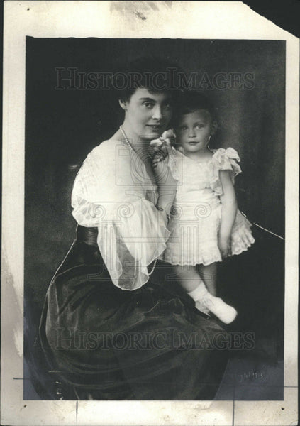 1913 Press Photo Kaiserin Germany Crown Princess Cecile and son prince fredercik - Historic Images