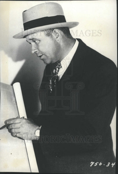 1930 Press Photo Charles E Sellers,aka Charles Mack,actor - Historic Images