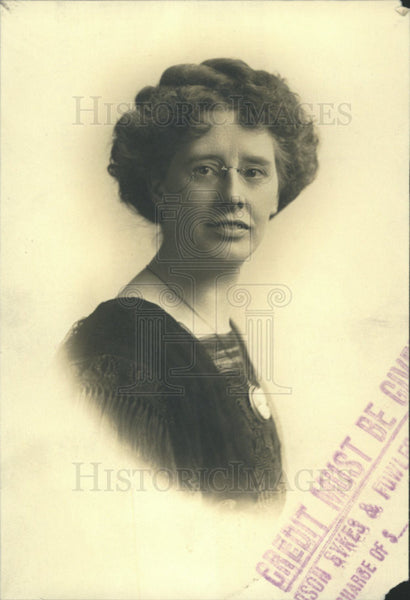 1913 Press Photo Miss Mary McEmery of Bindery Union - Historic Images