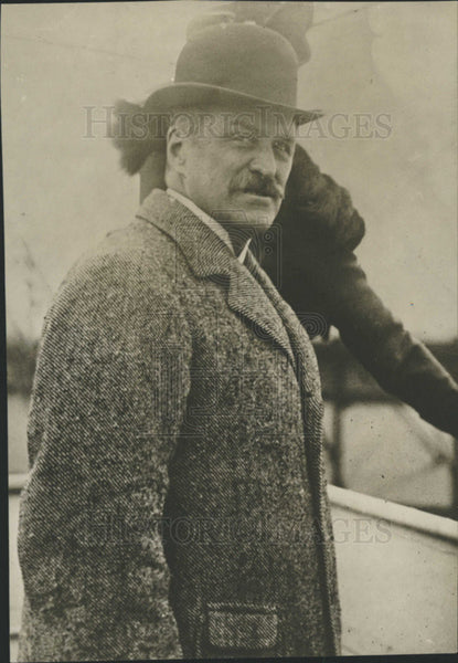 1913 Press Photo Carnegie Endowment Envoy Robert Bacon To Tour South America - Historic Images