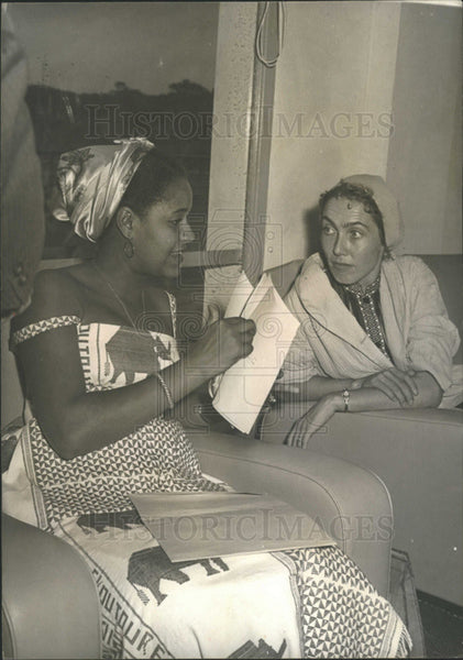 1959 Press Photo Mrs. Sekous Toure wife president Guinea guest palace - Historic Images