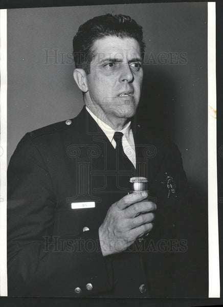 Press Photo Lt Thomas Downs of Chicago police - Historic Images