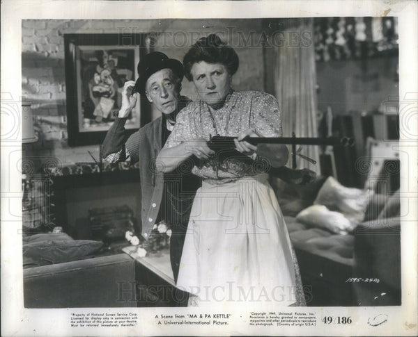 1949 Press Photo Marjorie Main American Film Actress - Historic Images