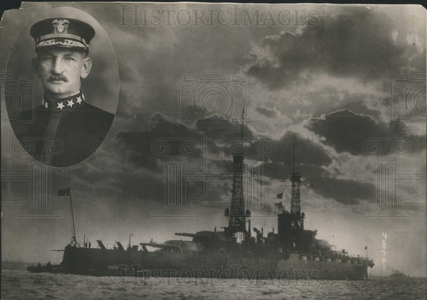 1914 Press Photo Admiral Henry T MayoU.S.N. - Historic Images