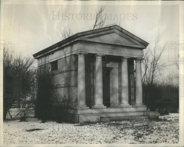 1910 Press Photo The Patten Mausoleum, Where James Patten Will be Laid to Rest - Historic Images