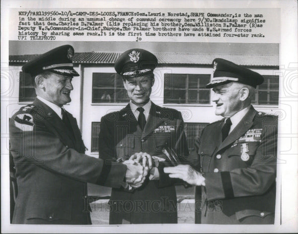 Press Photo Lauris Norstad Shepe Commander the man the Middle Command Ceremony - Historic Images