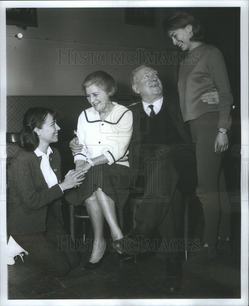 1965 Press Photo Pat Obrien Actor Helen Kleeb Actress Harrigan Son