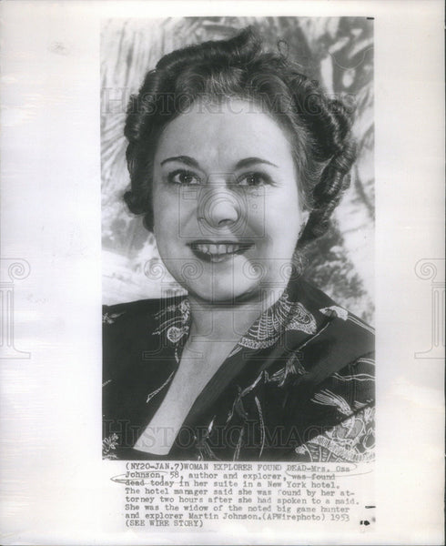1953 Press Photo Osa Johnson - Historic Images