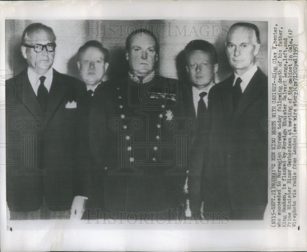1957 Press Photo Norway King Olav V Succeeded To Throne After Haakon Death