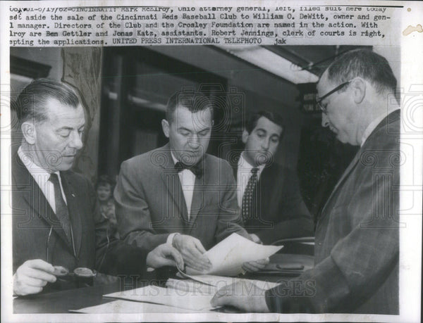 1962 Press Photo Marc McElroy,Ben Gettler,Jonas Katz - Historic Images