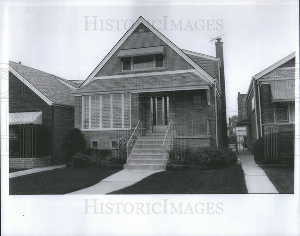1993 Press Photo Chicago Alderman John Madrzyk Exterior Of House - Historic Images