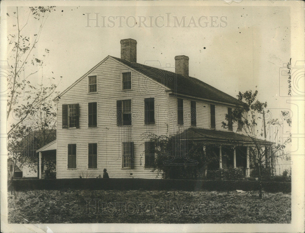 1923 Press Photo Treasury Secretary William McAdoo Childhood Home - Historic Images