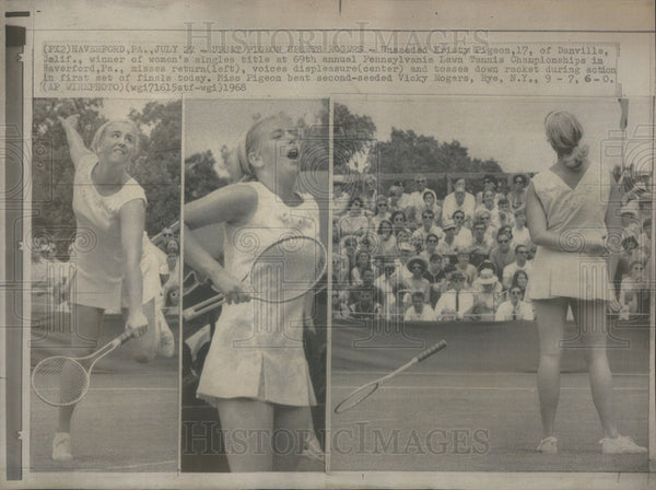 1968 Press Photo Kristy Pigeon, tennis champion Pennsylvania Lawn Tennis. - Historic Images