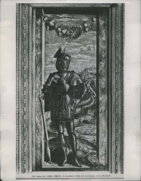 "1939 Press Photo Andrea Mantegna's ""St. George."" painting. - Historic Images"