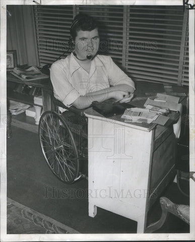1953 Press Photo Ronald Navin Muscular Dystrophy