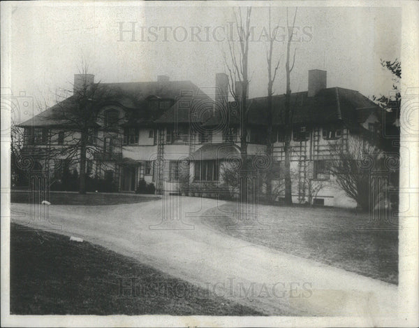 1930 Press Photo Home Of Lessing J. Rosenwald/Print Council Of America - Historic Images