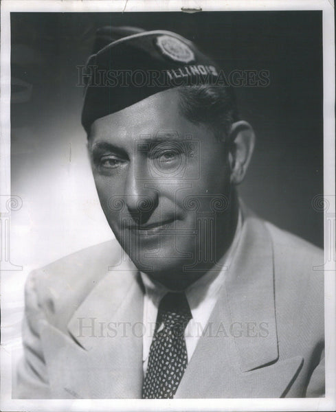 1953 Press Photo Illinois State Commander of Amr Legion Louis Rossett - Historic Images