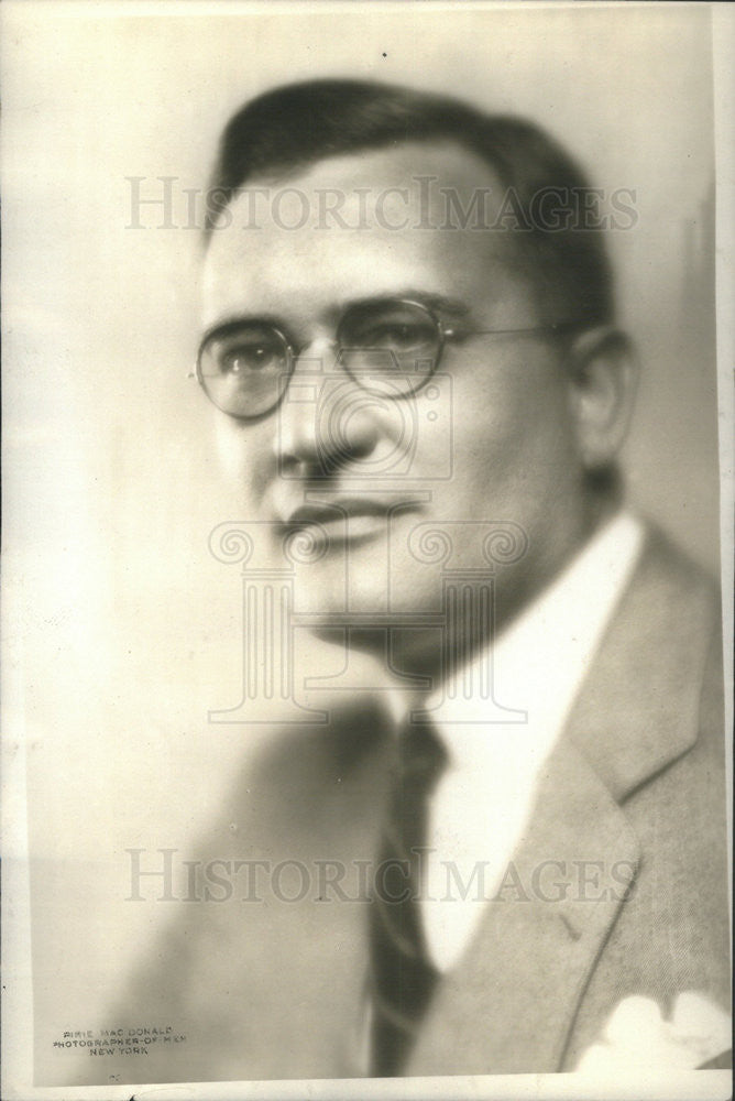 1932 Press Photo Walter A. Strong, publisher Chicago Daily Times. - Historic Images