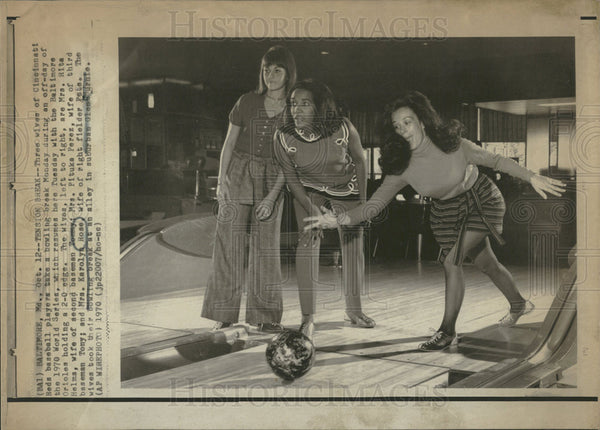 1970 Press Photo Cincinnati Reds Wives Rita Helms, Pituka Perez, Karolyn Rose - Historic Images