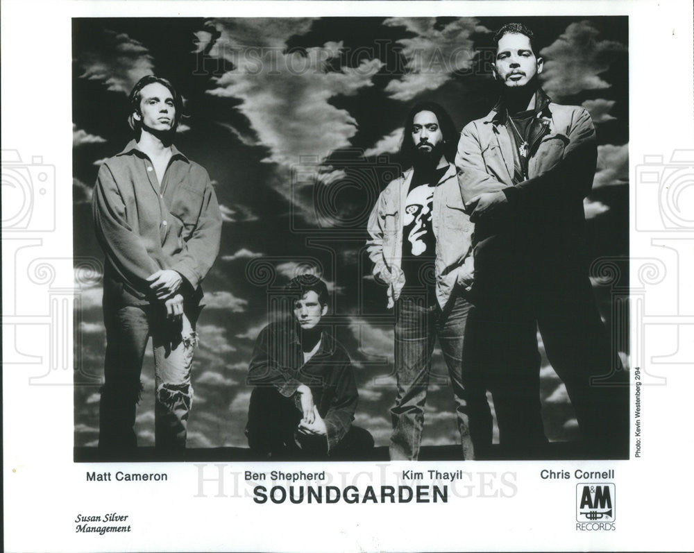 1996 Press Photo Rock Group Soundgarden: Matt Cameron, Ben Shepherd, Kim Thayil - Historic Images