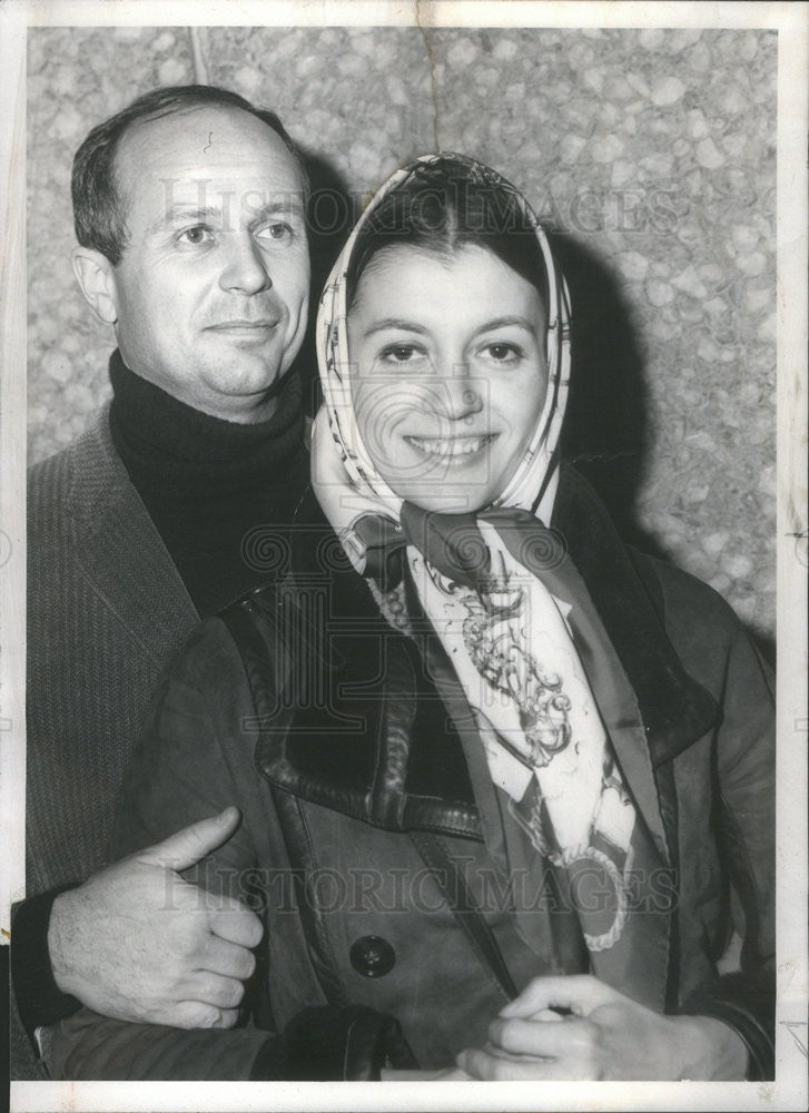 1968 Press Photo Carla Fracci,prima ballerina and husband Beppe Menegatti,direct - Historic Images