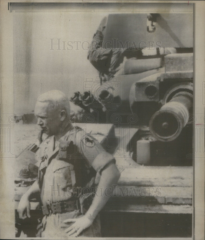 1969 Press Photo Col George S Patton,son of late Gen in South Vietnam - Historic Images