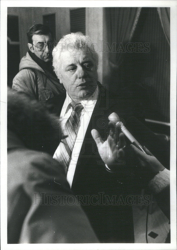 1980 Press Photo of Frank Muscare, president of Chicago Fire Fighter Union - Historic Images