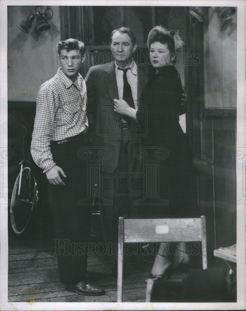 1955 Press Photo of Gene Sultan, Brandon Peters, Florence Sundstrom in Studio 1 - Historic Images