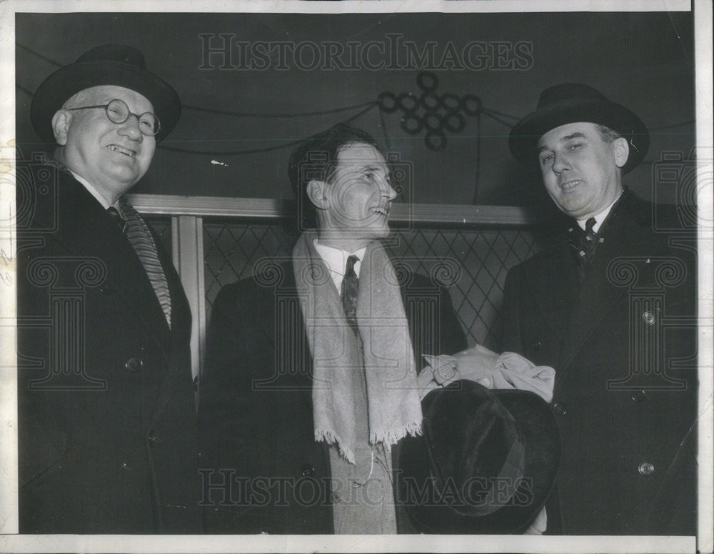 1940 Press Photo Lionel Edwards, Ansel Mowrer & Walter Flanley - Historic Images
