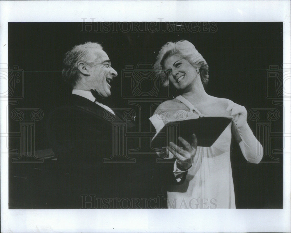 "1979 Press Photo Victor Borge and Marylyn Mulvey ""Comedy with Music"" - Historic Images"