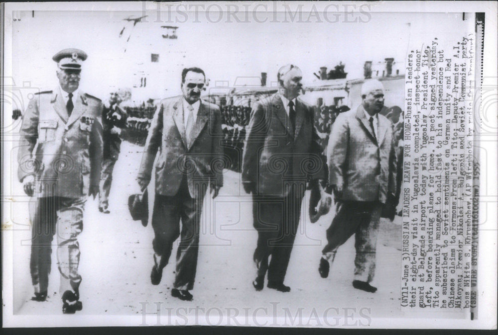 1966 Press Photo Soviet Leaders in Yugoslavia for Eight-Day Visit - Historic Images