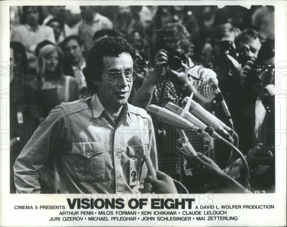 1973 Press Photo Arthur Penn Director Location Munich Shooting Visions Eight - Historic Images