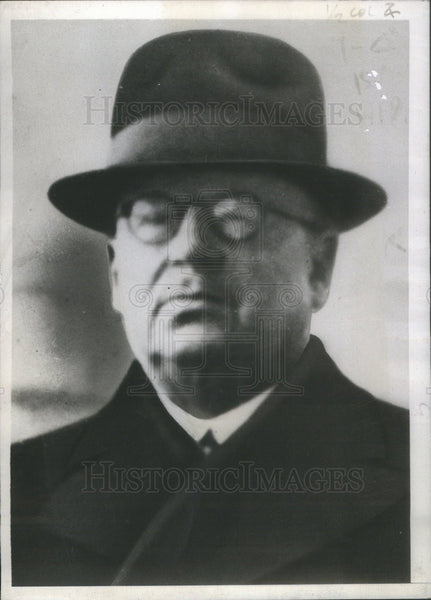 1939 Press Photo Juhu Kusti Paasikivi Finnish Minister Sweden - Historic Images