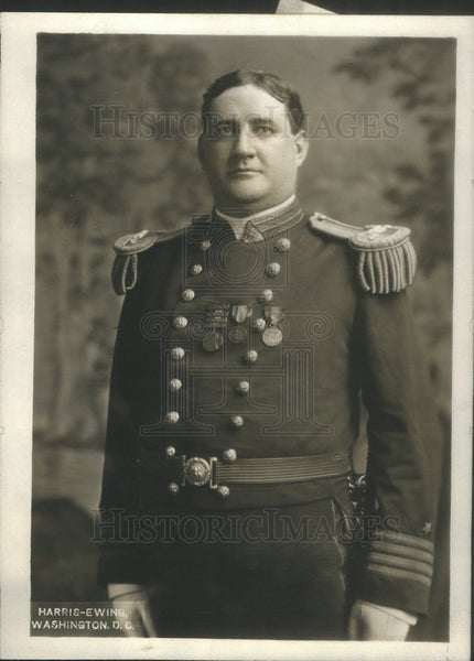 1914 Press Photo Captain Robert L Russel Commanding U.S.S South Carolina - Historic Images