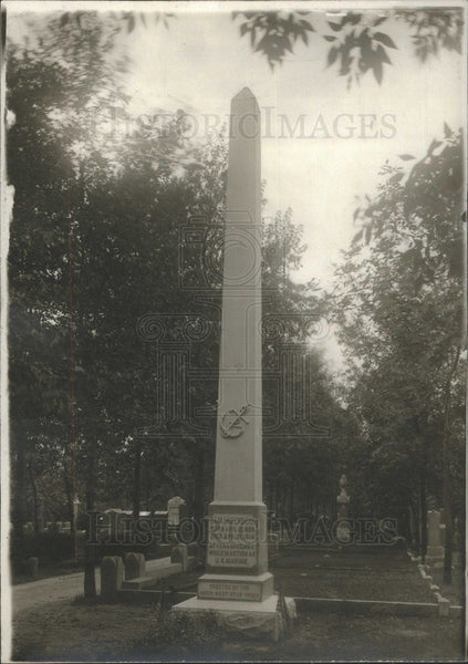 1914 Press Photo Sam Mizenberg Monument Veracruz Invasion Western Star Cemetery - Historic Images