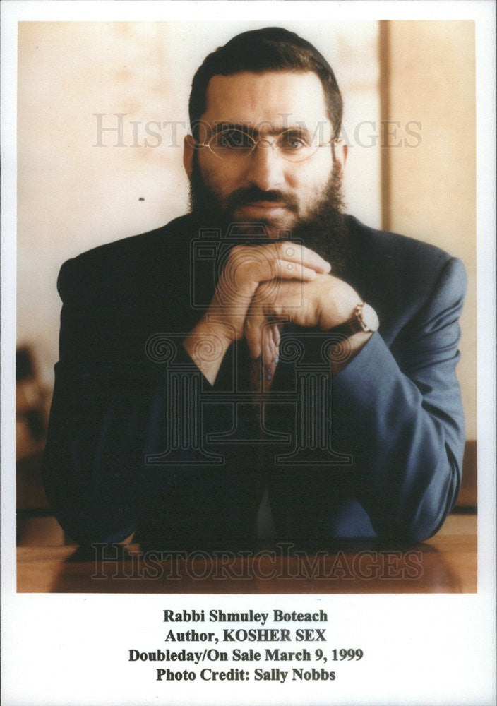 1999 Press Photo Copy Rabbi Shmuley Boteach Author Kosher Sex - Historic Images