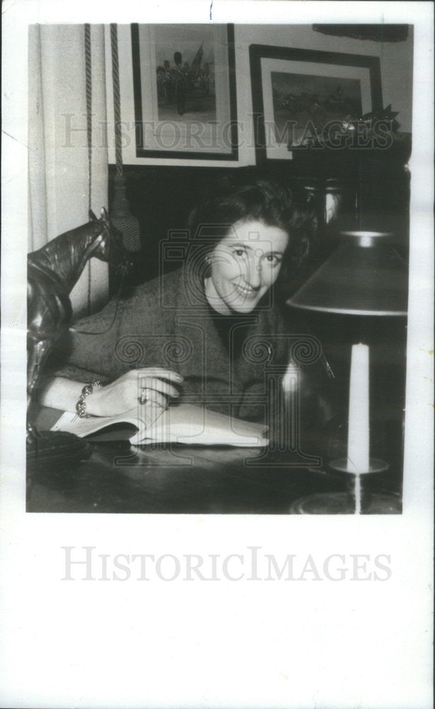 1967 Press Photo Mrs. Henry Mortimor, daughter of Lord Edward Dudley Metcalfe - Historic Images