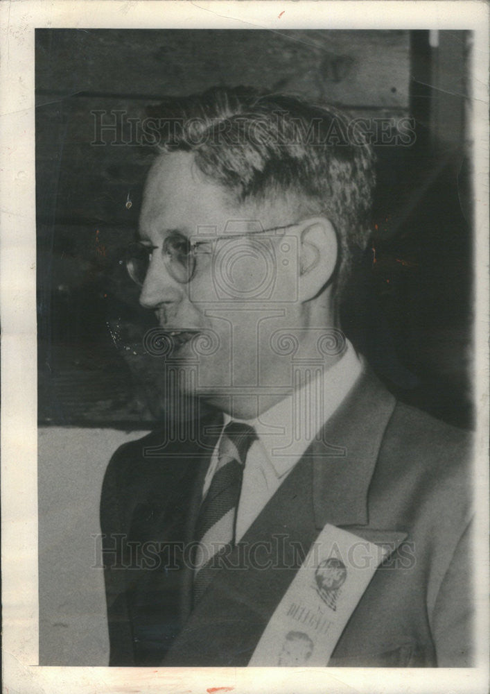 1952 Press Photo Curtis MacDougall Journalism Professor Northwestern University - Historic Images