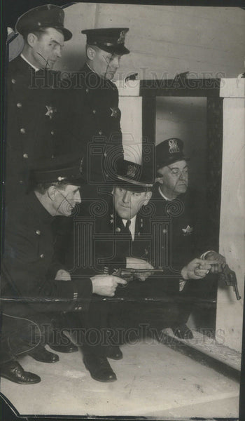 1925 Press Photo John Prendergast Nilson French New Police Building South State - Historic Images