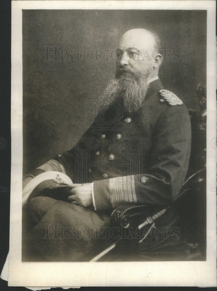 1914 Press Photo Admiral Albort von Tirpitz Takes Active Command of German Navy - Historic Images