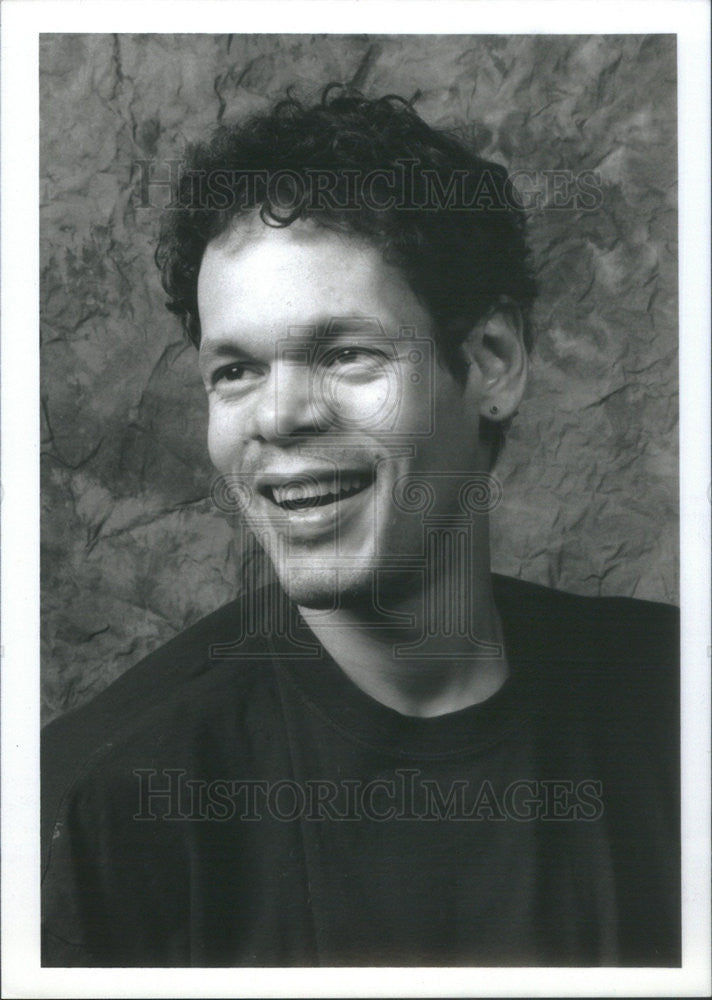 1996 Press Photo Edwin Sanchez Actor Turned Playwright Says He Was Always Cast - Historic Images