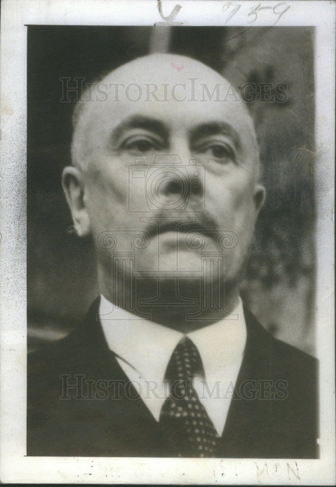 1940 Press Photo Hubert Pierlot Premier of Belgium - Historic Images