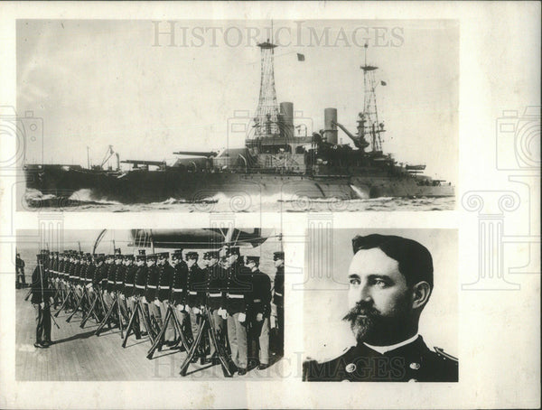 1914 Press Photo Captain Robert Russell of Marines - Historic Images