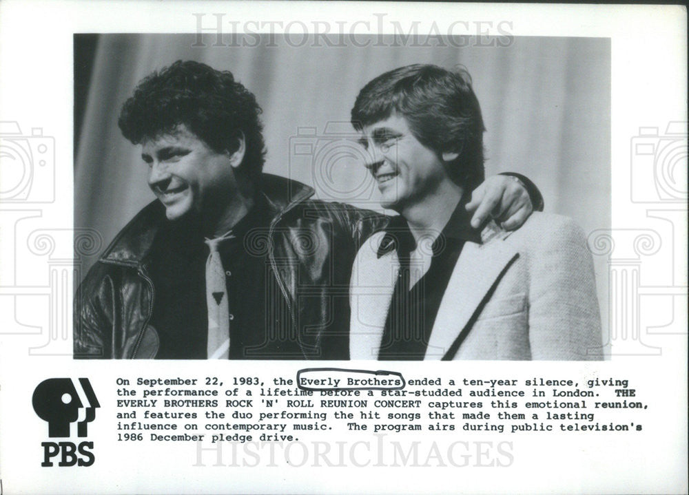 1983 Press Photo The Everly Brothers. - Historic Images