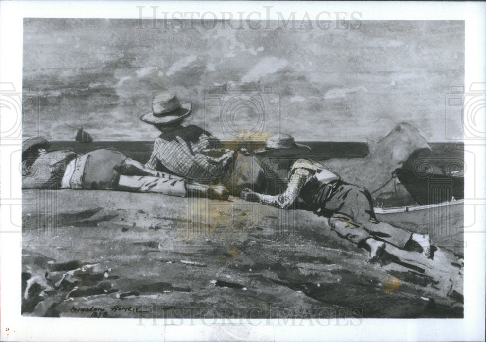 Press Photo three Boys On The Shore By Winslow Homer - Historic Images